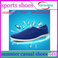 Wholesale DHL Promote pin Men s Net cloth shoes Breathable shoes Sport casual shoes YX JJ