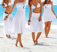 beach designs clothing - Bohemian dress New Women Summer beach dresses casual long design sexy clothing for Girl bikini worn outside the smock