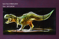 Cheap Wholesale - Dinosaur design Modern contemporary abstract painting,metal wall art sculpture wall hanging decor CHB6012054