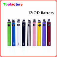 EVOD Battery 650mah 900mah 1100mah EVOD Batterie pour MT3 CE4 CE5 CE6 Cigarette électronique E cig cigarette Kit Colorful Battery by DHL