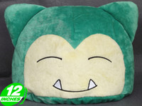 "2-4 Years Multicolor Metal Free Shipping Japanese Anime Cartoon Pokemon Snorlax Plush Toy Cosplay Hat Pillow Plush Doll Figure Toy 12"" Chritmas Gift"