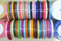 Wholesale mm satin ribbon yards total yards rolls mix colors colors can option belt gift packing wedding Ribbons Sashes