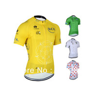 Cheap 2014 Tour de france Cycling jersey Cycling Clothes Cycling wear Cycling short sleeve jersey-1B Free Shipping