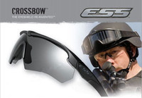PC ballistic shooting glasses - ESS Crossbow Brand new Hig US military tactical goggles tactical ballistic shooting glasses outdoors UV Sunglasses