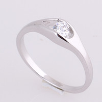 Wholesale Sexy K Plated Gold Band Rings Rhinestone Copper Finger Rings Jewelry For Wedding Party Presents J27013 B B