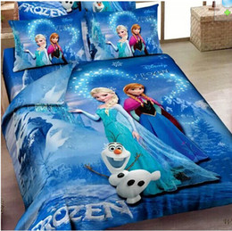 Wholesale 3D M artoon kids bedding sets Frozen Anna Elsa Bedding Sets christmas Despicable Me Banana bed set king size bed linen for children