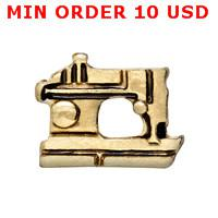 Wholesale GOLD SEWING MACHINE floating charms for memory living locket