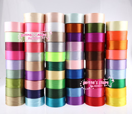 Wholesale whlolesale mm satin ribbon yards total yards rolls mix colors colors can option belt gift packing wedding Ribbons Sashes