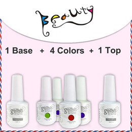 Wholesale 6pcs colors very popular uv gel nail polish IDO soak off Gelish color top coat base coat
