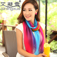 Wholesale HOT new silk scarf scarves georgette chiffon printed scarves scarf woman