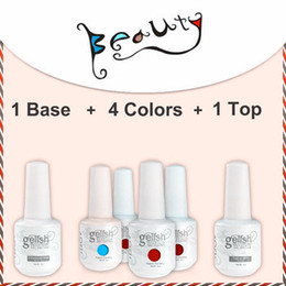 Wholesale 6pcs colors good sales uv gel nail polish IDO soak off Gelish color top coat base coat