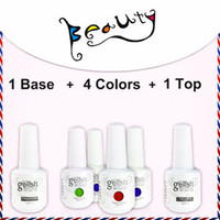 gelish - 6pcs uv gel nail polish IDO soak off Gelish color top coat base coat