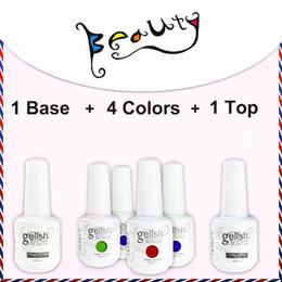 Wholesale 6pcs uv gel nail polish IDO soak off Gelish color top coat base coat