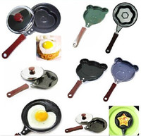 Roasting Pans heart shape pan - 5pcs Mini Lovely Heart Shaped Egg Fry Frying Pan Cook Pan Non Stick Cooking Eggs Model