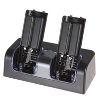 Wholesale Convenient Remote Control Charger Dock with X mAh Rechargeable Battery Packs for Wii EGS_805