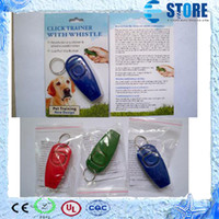 dog repeller - PET click trainer Dog Training Clicker Whistle Combination Trainer repeller Aid High Quality wu