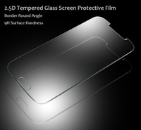 Wholesale Free DHL Premium Real Tempered Glass Film Guard Screen Protector Arc Edge mm Slim D for Samsung Galaxy S5 S3 S4 MINI IPHONE4