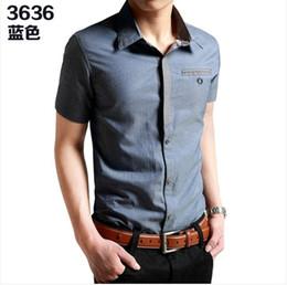 Wholesale Tai Chi Lang summer new men s short sleeved shirt Slim tide men s shirts Korean summer clothes men