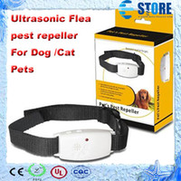 Wholesale Ultrasonic Mosquito Bug pet Pest Repellent Repeller Dispeller Dog Cat Pet Collar DHL free wu