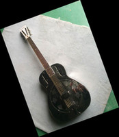 Wholesale Stainless steel body rosewood fingerboard Christmas Special Guitar black OEM guitar