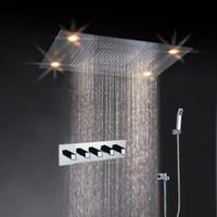 Wholesale Economic Hot Selling LED Ceiling Shower Head Light Up Shower Head Rainfall Shower Head