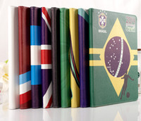 Wholesale Factory Price Leather Flip Case For iPad Football World Cup Brazil National Team