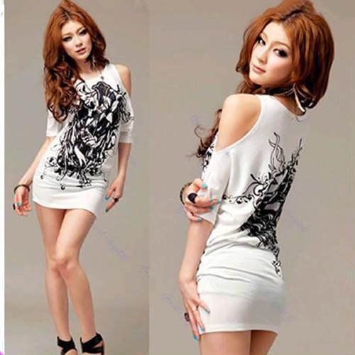 2017 Women T Shirt Mini Dress Sexy Cotton Casual Off Shoulder Long ...