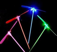 Unisex bamboo toys - LED Flying Umbrella LED Dragonfly Helicopter Kids toys ps flying bamboo dragonfly LED flying umbrella