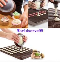 Wholesale Silicone Pastry Macaron Cake Baking Mould Sheet Mat Decorating Pen Nozzles