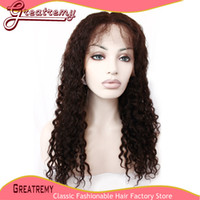 100% Brazilian Human Hair Water Wave Full Lace Wig #1B Grade...