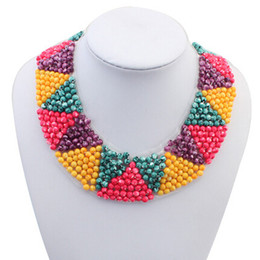 2014 New Fashion Statement Bead Necklaces & Pendants Choker Collar Rope Necklace For Women Jewelry N103622