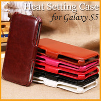 Wholesale Best Sheepskin PU Leather Case for Galaxy S5 i9600 Colorful Sample Style Pouch Case Heat Setting Stand Folio Flip Cover Free DHL