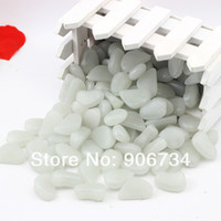 Ornaments Yes JUNE 2 PCS Lot 2 Colors 200 Glows Pebbles Stones Fantastic Walkway For Garden or Yard