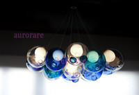 Wholesale Hot sale BOCCI glass ball pendant lights chandelier of colorful glass spheres modern lamp crystal chandeliers