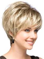 fashion hair short wig - Fashion wig Natural Light Blonde Straight Short Hair Wigs Short Women s Fashion Wig