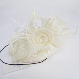 Ivory Bridal Hats Black Pillbox Fascinator Hats Justyle Feather Ivory Wedding Guest Hat Hair Acessories Designer Hatinators For Sale UK