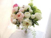 artificial christmas centerpiece - high quality peony Bridal Bouquet wedding party table centerpiece Christmas home decoration silk artificial flower arrangement