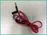 achat en gros de câble rouge casque-Rouge 3,5 mm mâle à mâle disque voiture aux audio audio cordon casque connecter câble pour casque 100pcs / lot