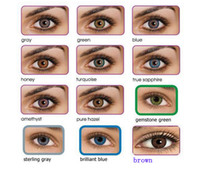 Wholesale 12 colors Contact lenses lens crazy lens Color Contact Tones colors pairs hot selling pairs