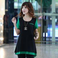 Wholesale 2014 Fashion Women s Tops Spring Summer Short Sleeve Prepy chiffon s Quality Silk blouses for woman roupas femininas J1155