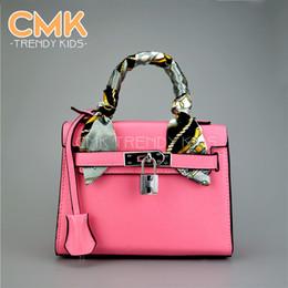 Wholesale CMK KB065 New Colors With Scarf and Lock Mini Kids Bags Children s Handbags Designer Handbag Mini Shoulder Bag for Girls Kids Bags