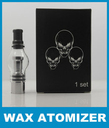 Glass globe atomizer glass tank wax dry herb vaporier clearomizer eGo electronic cigarette retail package