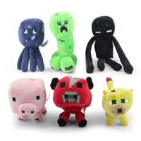 Wholesale 10pcs Minecraft JJ styles Squid Creeper Enderman pink pig cow Ocelot Cute plush toy stuffed doll cm