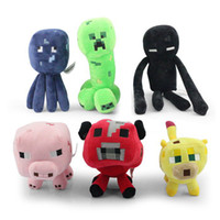 Wholesale Retail Minecraft JJ set Squid Creeper Enderman pink pig cow Ocelot Cute plush toy stuffed doll cm