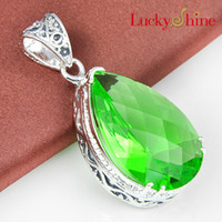 antique ruby necklace - 2015 Promotion New Arrival Women s Ruby Jewelry Gemstone Jewelry Pendant Colares Reliable Supplier Antique Silver Green Quartz Pendant P1158