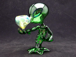 Wholesale Green G spot Glass Smoking pipes Alien glass pipes with high quality and beautiful design