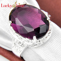 Wholesale Eternity Jewelry Amethyst Silver Ring R0049