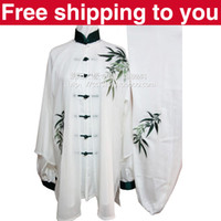 Wholesale Chinese Tai chi clothing Kungfu uniform taiji sword suit three piece set bamboo embroidery women little boy girl child men