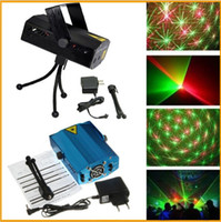 Wholesale Cheaper Promotional Free DHL Blue Black Mini Laser Stage Lighting mW Mini Green amp Red Laser DJ Party Stage Light Disco Dance Floor Lights