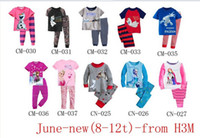 Cheap Baby Girls Summer Clothing sets 100%cotton Fashion Girl's suit sets Frozen Princess Elsa&Anna pajamas Sets T-Shirt+ pants